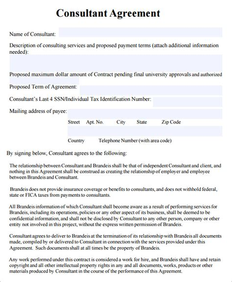 consulting agreement template free consulting agreement template sadamatsu hp