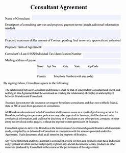 Consulting agreement 7 free pdf doc download for Consulting contracts templates