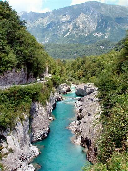 Soca River Slovenia Bovec Kobarid Tolmin Isonzo