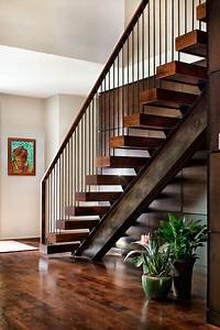 I-beam And Timber Treads  Industrial Staircase