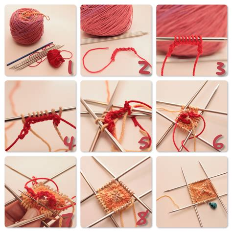 how to knit knitting from the center out the c side