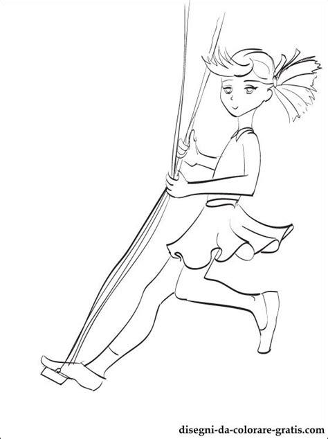 disegno bambina su unaltalena da stampare disegni da
