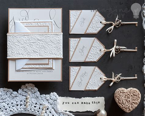 how to make lace embossed stationery imagine diy