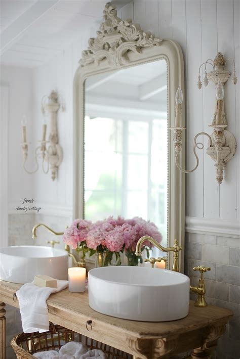 elegant french cottage bathroom renovation peek