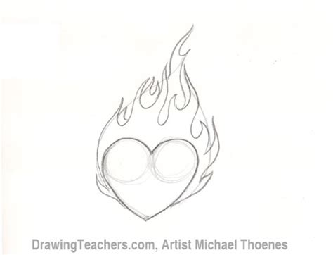 draw  heart  flames