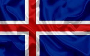 Descargar fondos de pantalla Islandés bandera, Islandia, Europa, la seda de la bandera, la