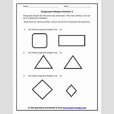 Congruent Shapes Version 1