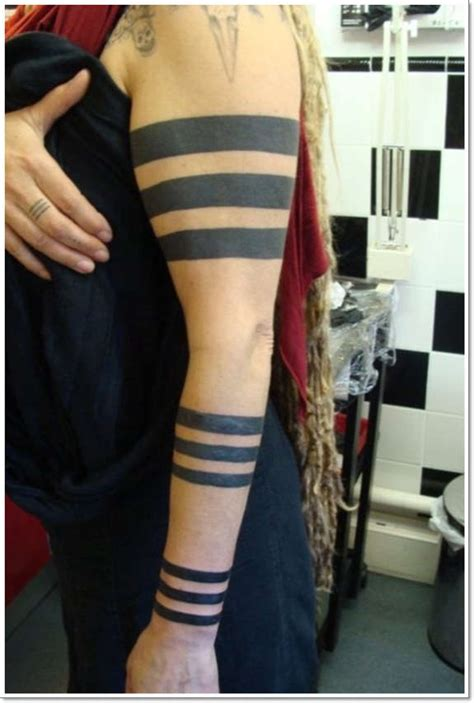 incredible solid band tattoos