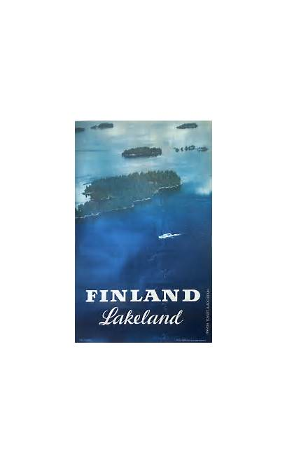 Finland Lakeland Poster Posters Travel Posterteam Oy