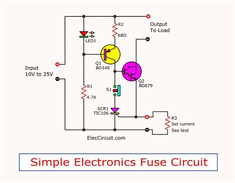 Simple Electronic Fuse Circuit Eleccircuit