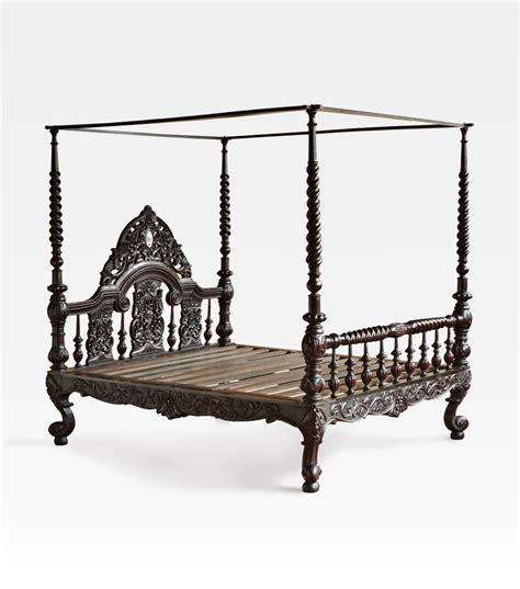letto a baldacchino antico letto indiano a baldacchino coloniale intagliato legno