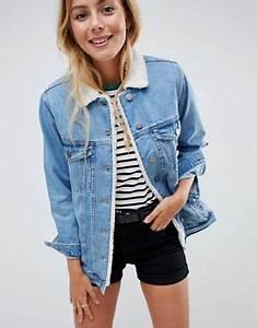 Veste En Jean Doublée Mouton Femme : vestes en jean femme vestes classiques et oversize asos ~ Melissatoandfro.com Idées de Décoration