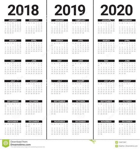 year calendar vector stock vector illustration