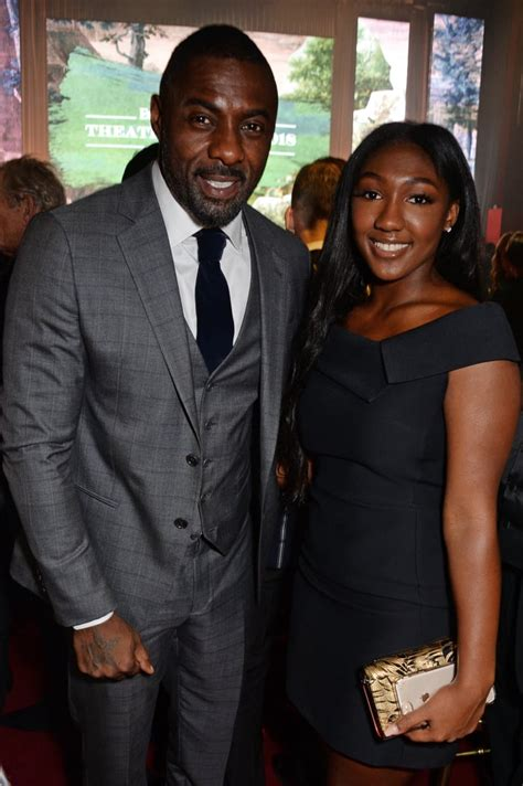 Idris Elba and Family at the Evening Standard Awards ...