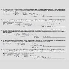 Projectile Motion Simulation Worksheet Answer Key Briefencounters