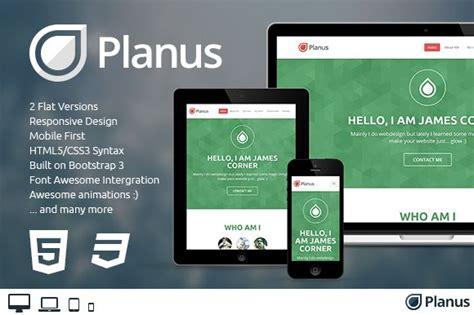 planus  page bootstrap theme fun website design