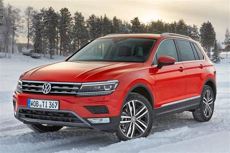 Inside, passengers get an upscale cabin with great infotainment features. VW Volkswagen Tiguan