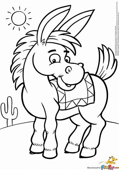 Coloring Pages Donkey