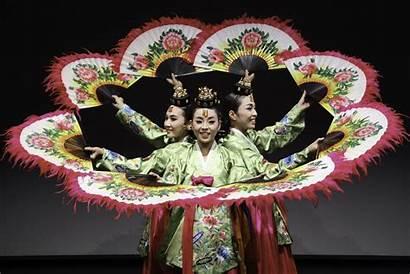Korean Dance Traditional Danza Abanicos Tradicionales Fans