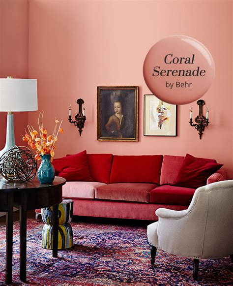 paint color schemes bedrooms coral serenade by behr is our paint color pick 16589 | HueWeLove Coral Serenade Behr HH SE13