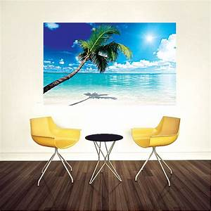 Beach mural decal view wall decal murals primedecals for Beach wall decals
