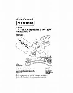 Craftsman 32021195 User Manual 7 1  4 Compound Miter Saw