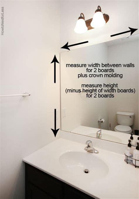 Builder Grade Bathroom Mirror by How To Frame A Bathroom Mirror Bath Bathroom Mirror