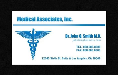 awesome business card template  doctors sample