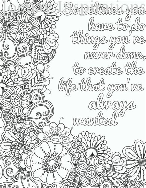 Coloring Quotes For Adults Printable 25 best ideas about coloring on