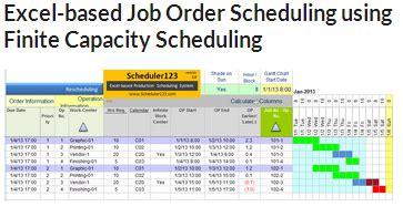 production schedule template  excel  master scheduler
