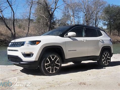 jeep compass 2017 white first drive 2017 jeep compass web2carz