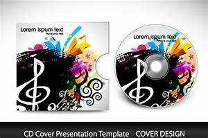 cd cover presentation vector template free vector in With cd cover design template free download