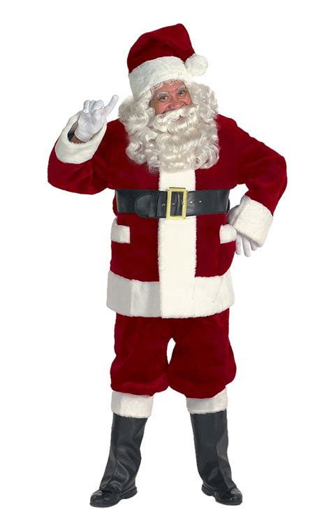 burgundy deluxe santa suit santa supply online