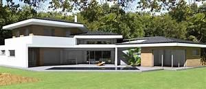 Maison Contemporaine D U0026 39 Architecte  U00e0 Toiture Tuiles Noires