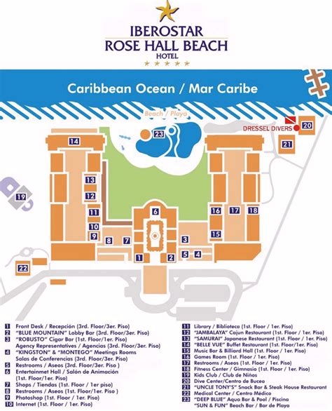 Map Layout Iberostar Rose Hall Beach   Wedding   Pinterest   Hall, Beach and Vacation