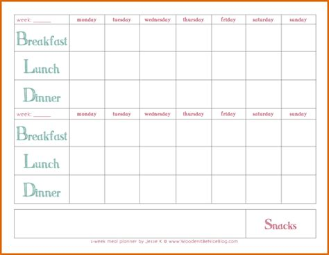 printable weekly meal planner authorizationlettersorg