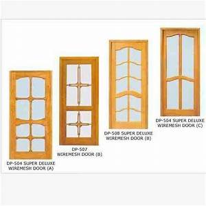 Ash Wooden Mesh Double Door Hpd512 - Mesh Panel Doors - Al