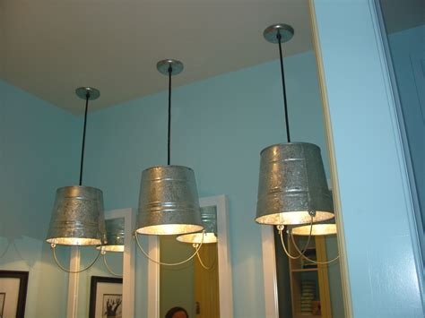 fun bucket light fixtures  kids bathroom  parade