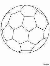 Soccer Printable Coloring Balls Ball Popular sketch template