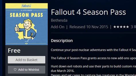 Whoops Fallout 4's Season Pass is FREE on the PS4 store
