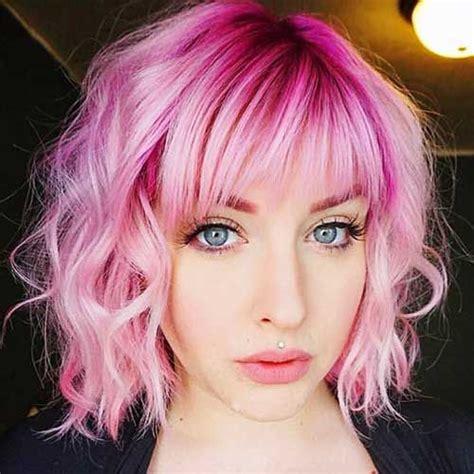 Best 25 Pink Short Hair Ideas On Pinterest Short Pastel