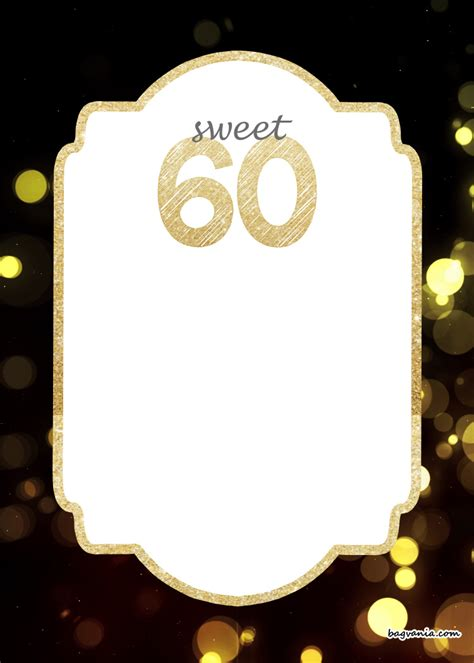 60th Birthday Invites Free Template by Free Printable 60th Birthday Invitation Templates Free