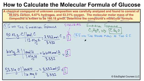 How To Calculate A Molecular Formula Youtube