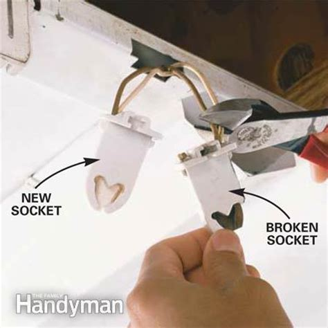 how to remove fluorescent light bulb how to replace a fluorescent light bulb the family handyman