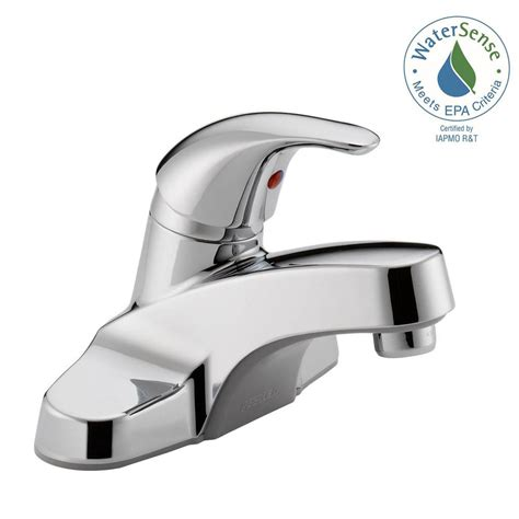 Sink Faucets At Home Depot by Peerless 4 In Centerset Single Handle Bathroom