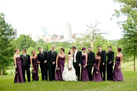 Elegant Eggplant & Navy North Carolina Wedding