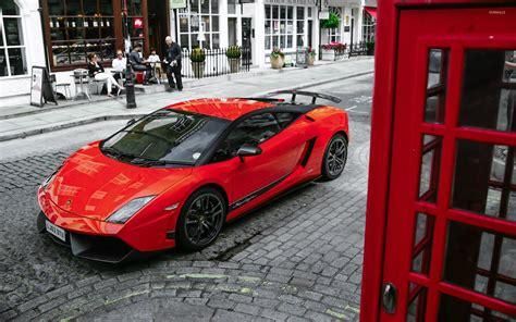 Red Lamborghini Gallardo Superleggera Top View Wallpaper