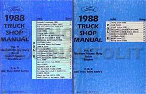 1988 Ford Truck  Cab  Foldout Wiring Diagram Original F600