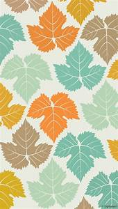 Colored Maple Leaves Pattern Wallpaper - Free iPhone ...
