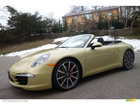 2013 Lime Gold Metallic Porsche 911 Carrera S Cabriolet
